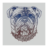 Gritty Bulldog Poster by Rachel Caldwell