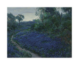 Bluebonnets in the Misty Morning Premium Giclee Print by Julian Onderdonk