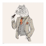 Tiger-man Print by  GraphINC
