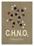 Molecule Chocolate Prints by  TypeLike