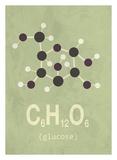 Molecule Glucose Print by  TypeLike