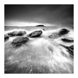 Waves on Rocks Print by  PhotoINC Studio