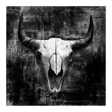 Black Cowskull Art by  GraphINC