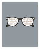 Glasses Prints by  GraphINC