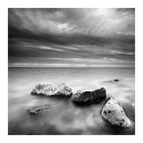 Waves on Rocks Prints by  PhotoINC Studio