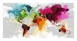 Colourful World Map Affiches par  GraphINC