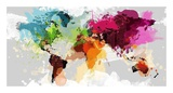 Colourful World Map Prints by  GraphINC