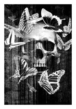 Skull Butterfly Crown Posters by  GraphINC