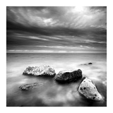 Rocks on Beach Poster by  PhotoINC Studio