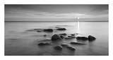 Rocks in mist Poster by  PhotoINC Studio