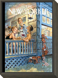 The New Yorker Cover - July 28, 2008 Framed Print Mount by Peter de Sève