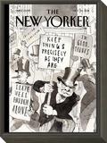 Fighting Back - The New Yorker Cover, October 24, 2011 Framed Print Mount by Barry Blitt