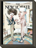 The New Yorker Cover - July 21, 2008 Framed Print Mount by Barry Blitt