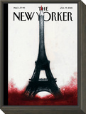 The New Yorker Cover - January 19, 2015 Framed Print Mount by Ana Juan