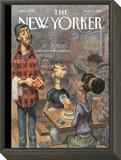 The New Yorker Cover - November 3, 2014 Framed Print Mount by Peter de Sève