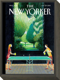 Inside, Outside - The New Yorker Cover, July 29, 2013 Framed Print Mount by Lorenzo Mattotti