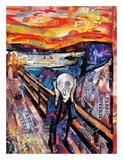 Der Schrei Kunstdrucke von James Grey