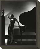 Vogue - November 1935 - Piano Silhouette Framed Print Mount by Edward Steichen
