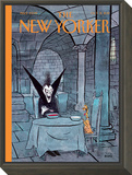 Diner a deux - The New Yorker Cover, October 31, 2011 Framed Print Mount by George Booth
