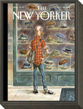 Top Choice - The New Yorker Cover, October 28, 2013 Framed Print Mount by Peter de Sève