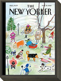 The New Yorker Cover - March 18, 2013 Framed Print Mount by Maira Kalman