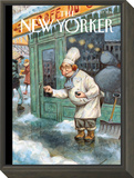 Just a Pinch - The New Yorker Cover, January 27, 2014 Framed Print Mount by Peter de Sève