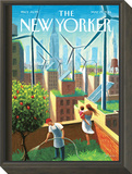 A Bright Future - The New Yorker Cover, May 19, 2014 Framed Print Mount by Eric Drooker