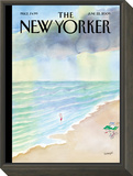 The New Yorker Cover - June 22, 2009 Framed Print Mount by Jean-Jacques Sempé
