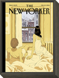 Perfect Storm - The New Yorker Cover, February 10, 2014 Framed Print Mount by Tomer Hanuka
