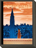 The New Yorker Cover - January 12, 2009 Framed Print Mount by Mark Ulriksen