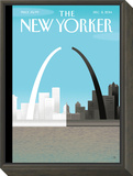 The New Yorker Cover - December 8, 2014 Framed Print Mount by Bob Staake
