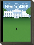 The New Yorker Cover - April 27, 2009 Framed Print Mount by Bob Staake