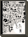 The New Yorker Cover - November 16, 2015 Framed Print Mount by Christoph Niemann