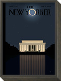 The New Yorker Cover - November 17, 2008 Framed Print Mount by Bob Staake