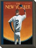 Derek Jeter Bows Out - The New Yorker Cover, September 8, 2014 Framed Print Mount by Mark Ulriksen