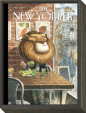 A New Leaf - The New Yorker Cover, April 7, 2014 Framed Print Mount by Peter de Sève