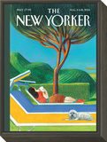 The New Yorker Cover - August 11, 2014 Framed Print Mount by Lorenzo Mattotti