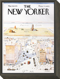 The New Yorker Cover, View of the World from 9th Avenue - March 29, 1976 Framed Print Mount by Saul Steinberg