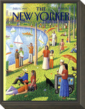 The New Yorker Cover - July 15, 1991 Framed Print Mount by Bob Knox