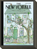 Beware of the Dog - The New Yorker Cover, June 23, 2014 Framed Print Mount by George Booth