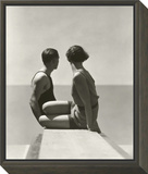 Vogue - July 1930 - Divers Framed Print Mount by George Hoyningen-Huené