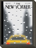 Rainy Day - The New Yorker Cover, October 6, 2014 Framed Print Mount by Christoph Niemann