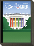 The New Yorker Cover - May 21, 2012 Framed Print Mount by Bob Staake