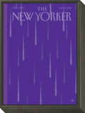 Prince Purple Rain New Yorker Magazine Cover - May 2, 2016 Framed Print Mount by Bob Staake
