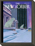 Polar Bears on Fifth Avenue - The New Yorker Cover, January 13, 2014 Framed Print Mount by Bruce McCall