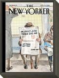 The New Yorker Cover - November 14, 2016 Framed Print Mount by Barry Blitt