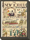 The New Yorker Cover - July 15, 1944 Framed Print Mount by Rea Irvin