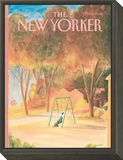 The New Yorker Cover - September 9, 1985 Framed Print Mount by Jean-Jacques Sempé