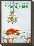 The New Yorker Cover - December 1, 1975 Framed Print Mount by George Booth