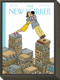 Love Stories - The New Yorker Cover, June 9, 2014 Framed Print Mount by Joost Swarte